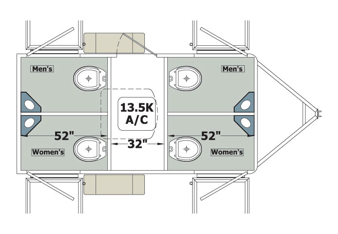 Century 4: Washroom Trailer - floor plan